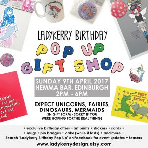 Ladykerry Birthday Pop Up Gift Shop