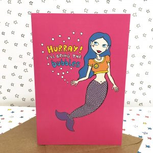 Mermaid celebration card