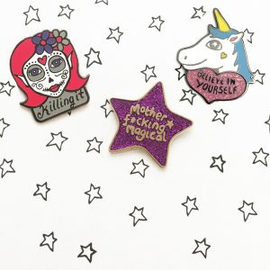 Ladykerry cool enamel pins