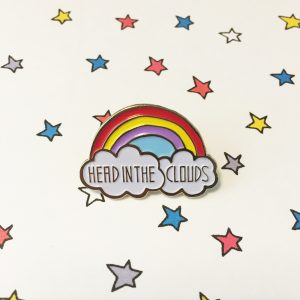 Cute rainbow and cloud pin