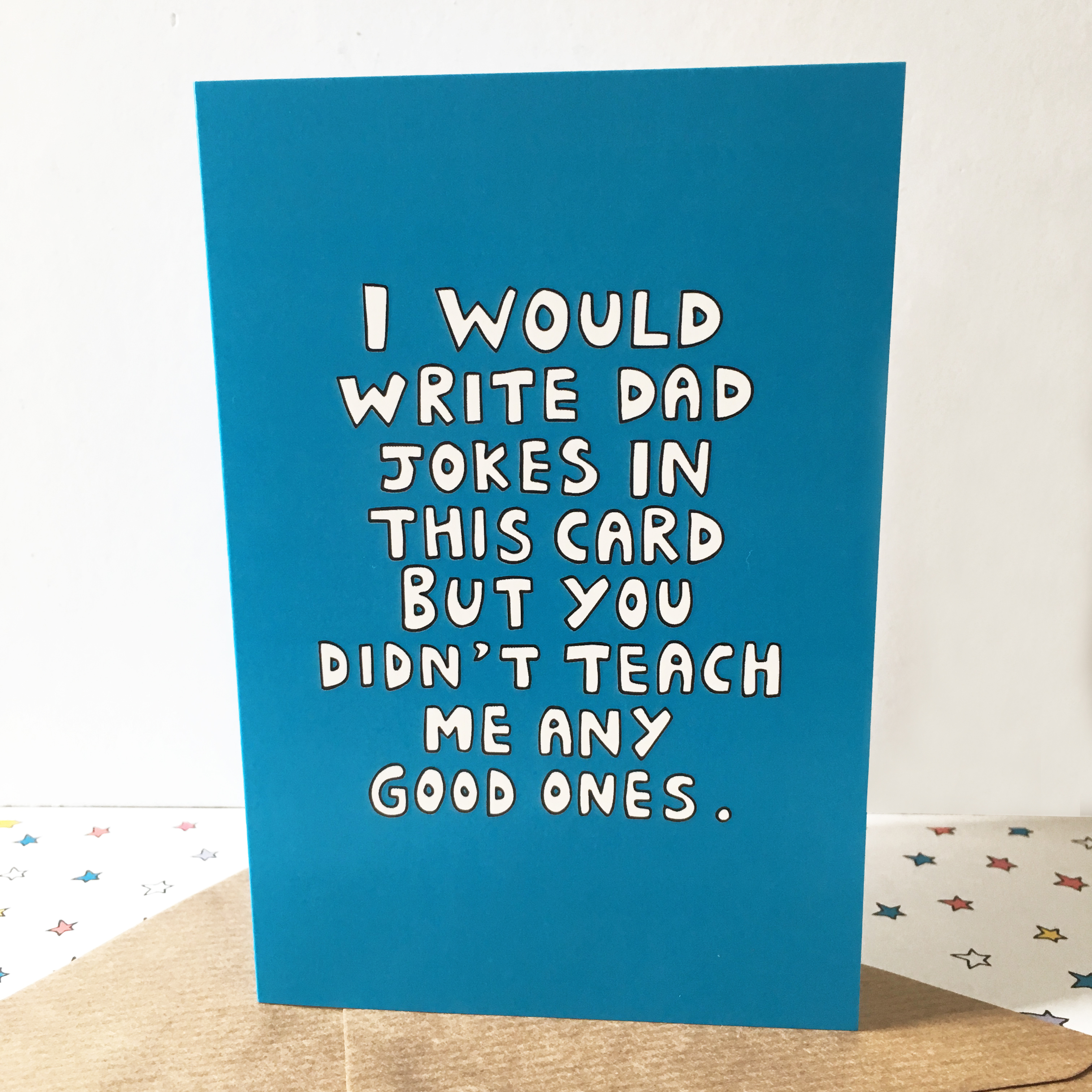 Funny Birthday Card For Dads Bad Dad Jokes Funny Card For: A New Funny Fathers Day Card
