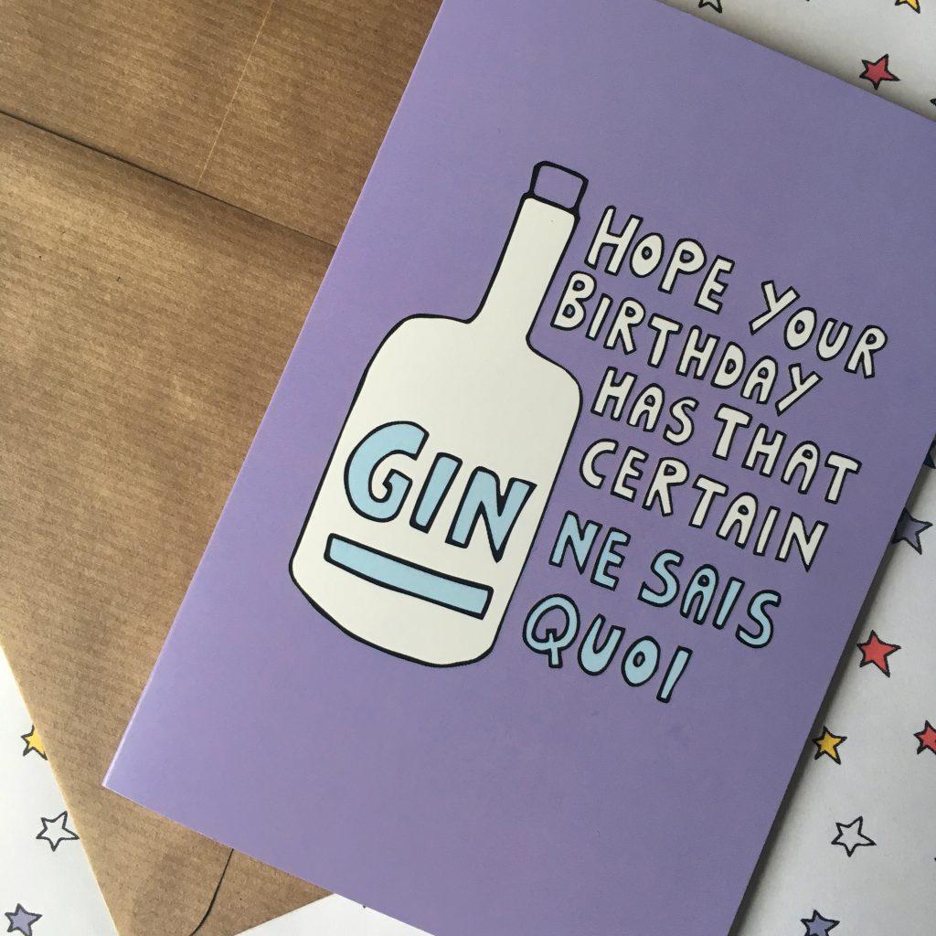 Gin birthday card by Ladykerry