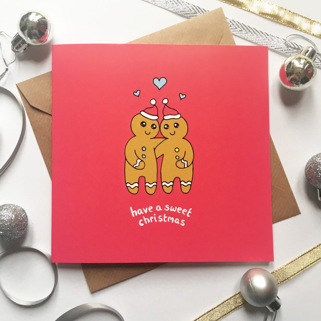 no christmas card range is complete without a super sweet one this gingerbread couple christmas card is super adorable and ideal for a card for boyfriend