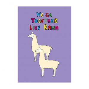 llama Palentine's card by Ladykerry