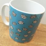 Catface blue cat mug