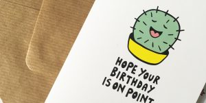 Cactus birthday card by Ladykerry