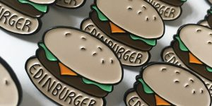 edinburger pin badge