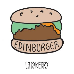 Edinburger Edinburgh enamel pin