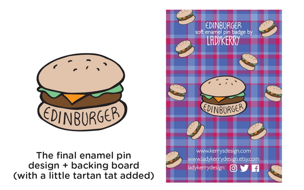 Edinburger Edinburgh Burger Enamel Pin