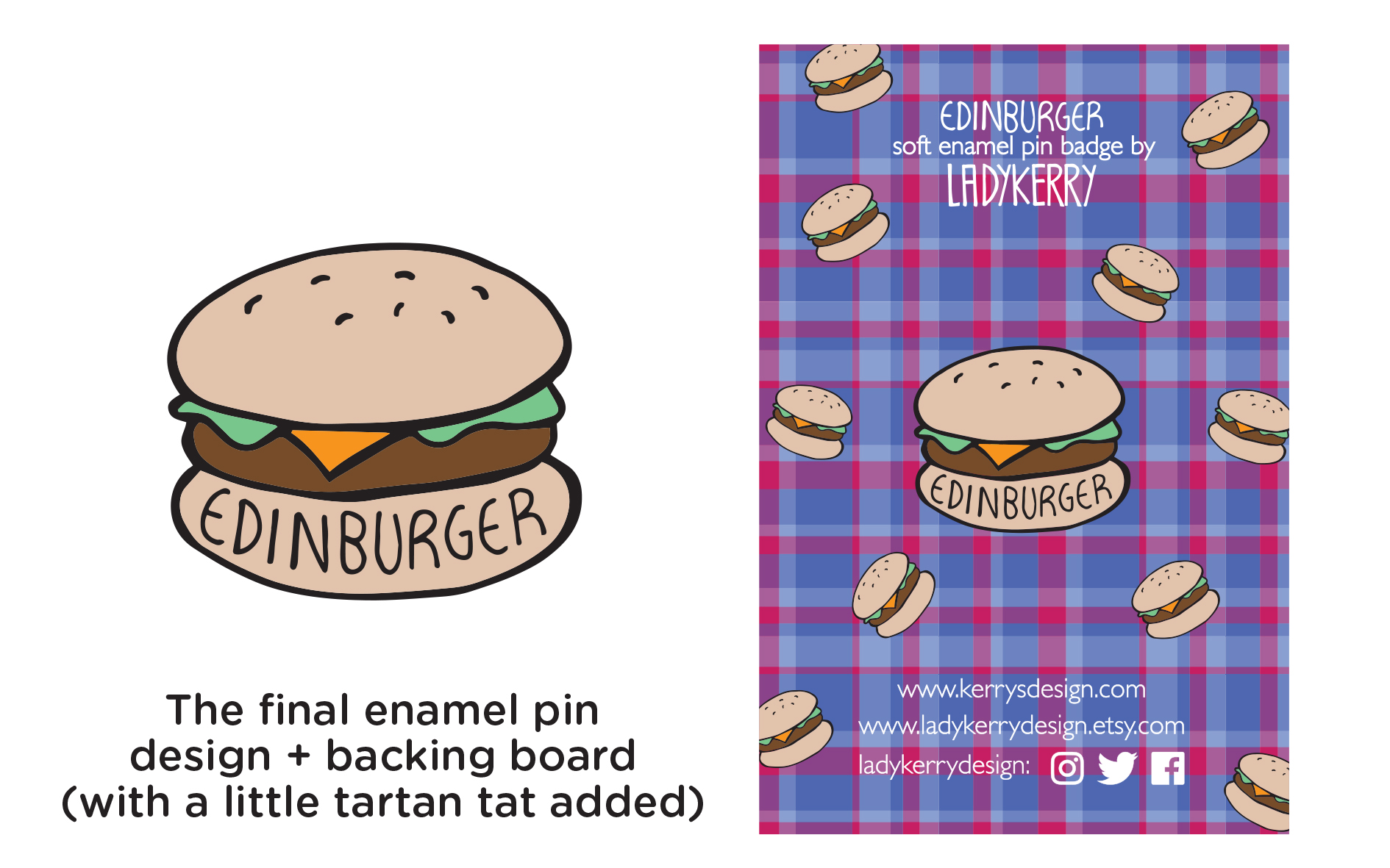 Edinburger Edinburgh Burger Enamel Pin - Ladykerry