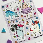 Cute unicorn vinyl stickers