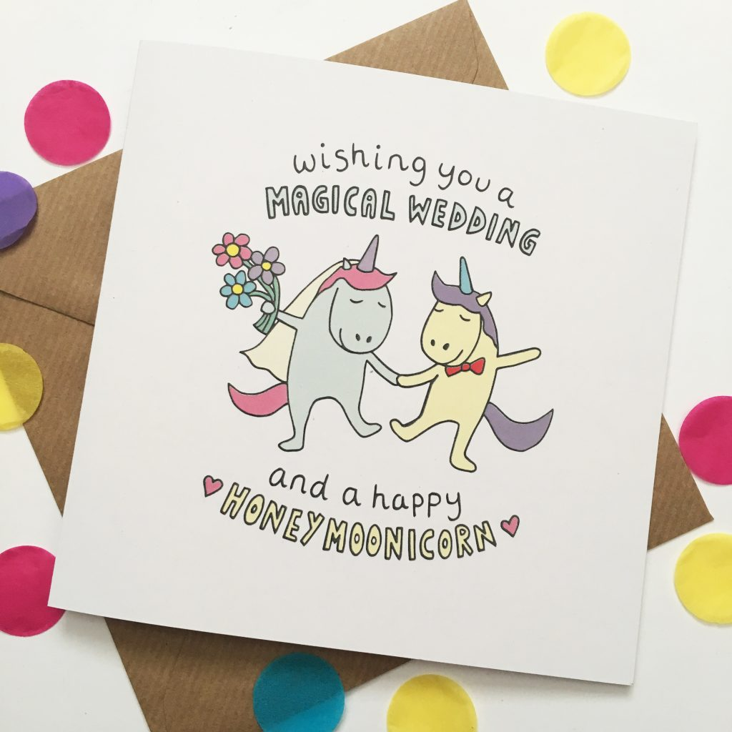 I Hand Drew The Cute Unicorn Characteressage Then Digitally Coloured Card Features Soft Muted Colours Complimenting Slight Grain In