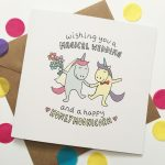 Unicorn wedding card
