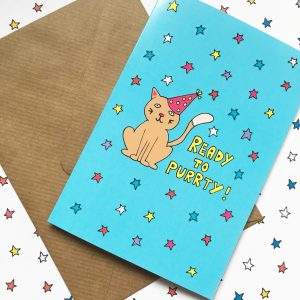 Cute and fun cat celebration card