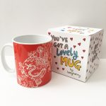 Red dragon mug by Ladykerry Illustrated Gifts