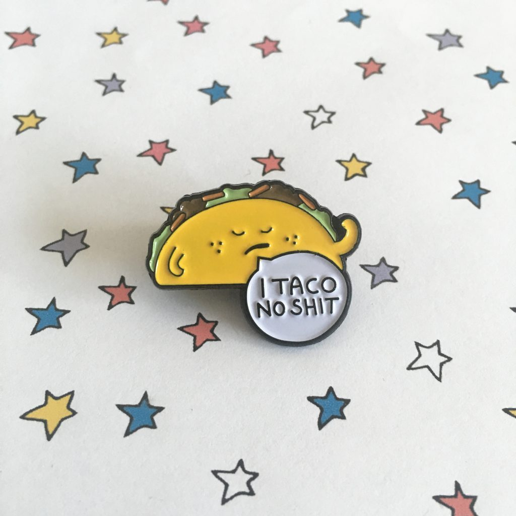 taco enamel pin badge
