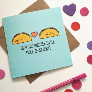 Taco Valentines card by Ladykerry