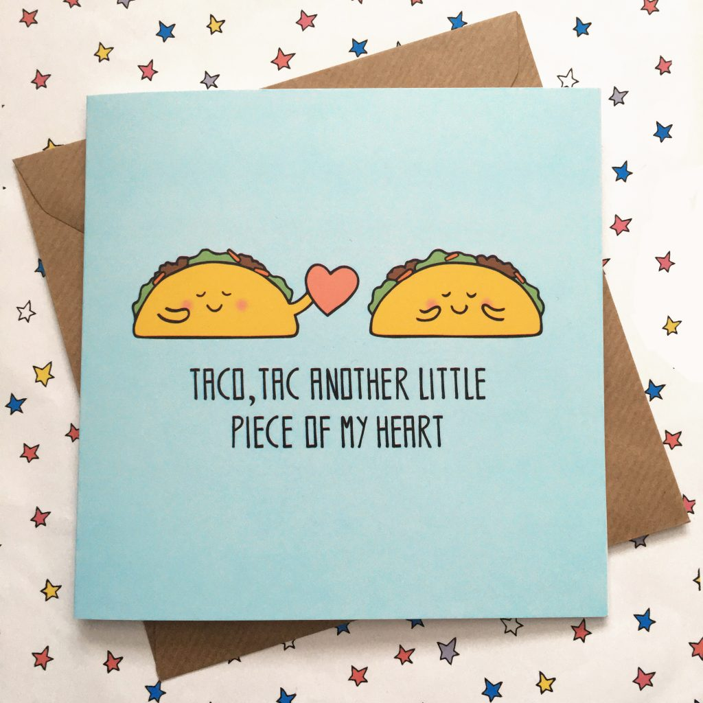 Cute taco card by Ladykerry