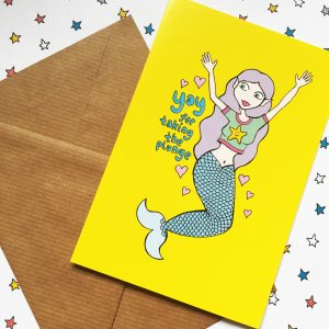Bright and colourful Mermaid celebration card