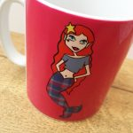 Tartan mermaid mug by Ladykerry design
