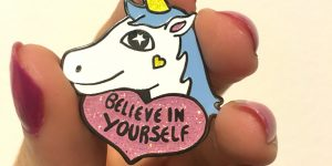 Cute unicorn pin