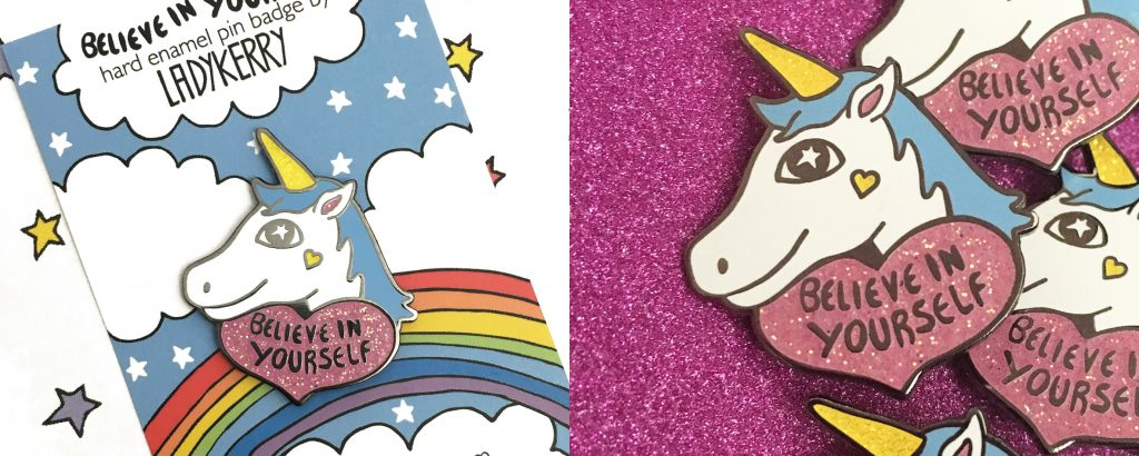 Cute unicorn enamel pin