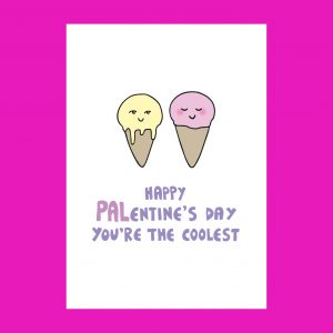 Ice cream palentines card by Ladykerry