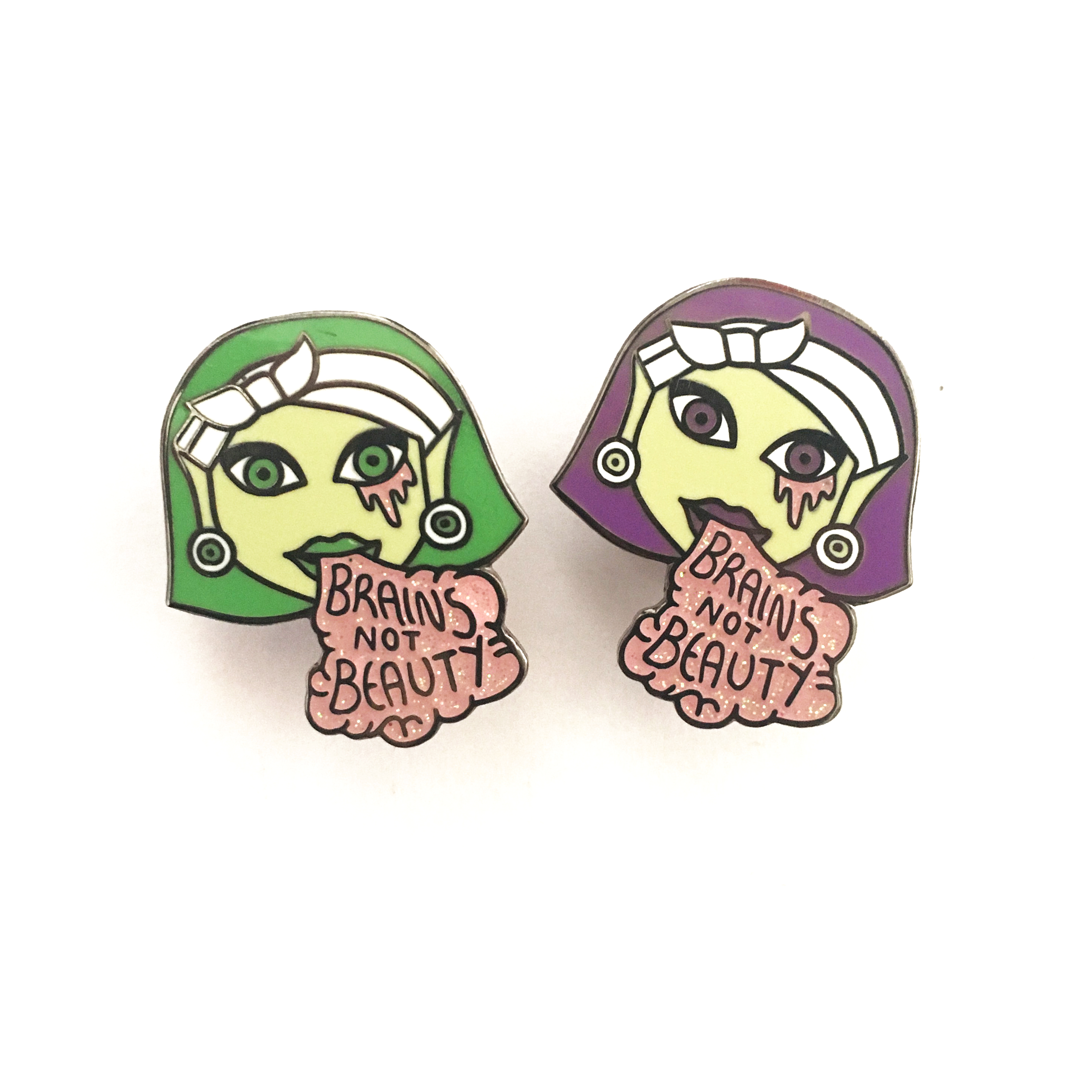 Halloween enamel pin by Ladykerry - Ladykerry Illustrated Gifts